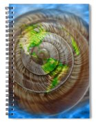 Western Hemisphere On A Seashell Spiral Notebook
