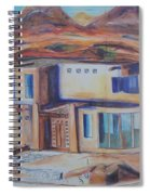 Western Home Illustration Spiral Notebook