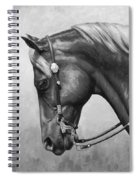 Western Horse Black And White Spiral Notebook