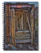 Western Outhouse Spiral Notebook