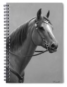 Western Quarter Horse Black And White Spiral Notebook