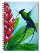 Western Streamertail Hummingbird Spiral Notebook