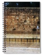 Empty Western Wall Spiral Notebook