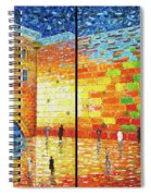 Western Wall Jerusalem Wailing Wall Acrylic Painting 2 Panels Spiral Notebook