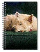 Westie Nap Spiral Notebook