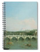 Westminster Bridge From The North With Lambeth Palace In Distance Spiral Notebook