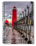 Wet At Grand Haven Spiral Notebook