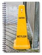 Wet Floor Warning Spiral Notebook
