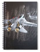 Wet Night Landing Spiral Notebook