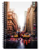 Wet Streets Of New York City Spiral Notebook
