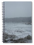 Weymouth Back River In A Snow Storm Spiral Notebook