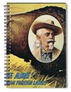 W.f.cody Poster, 1908 Spiral Notebook