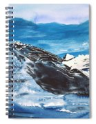 Whale Breaching Spiral Notebook
