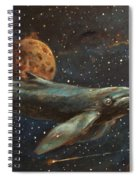 Whale Of The Universe Spiral Notebook