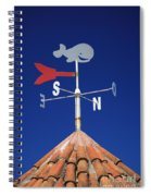 Whale Weather Vane Spiral Notebook