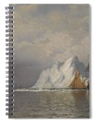 Whaler And Fishing Vessels Near The Coast Of Labrador Spiral Notebook