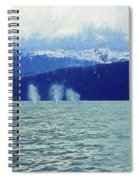 Whales Blowing Spiral Notebook