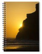 Whales Head Beach Oregon Sunset 2 Spiral Notebook