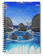 Whales Tail Waterfall Spiral Notebook