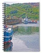Wharf Near Angelmo Fish Market In Puerto Montt-chile  Spiral Notebook