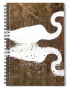 What The Egret Caught Spiral Notebook