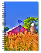 Wheat Farm Near Gettysburg Spiral Notebook