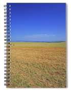 Wheat Field After Harvest Spiral Notebook