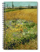 Wheat Field With Alpilles Foothills In The Background At Wheat Fields Van Gogh Series, By Vincent  Spiral Notebook