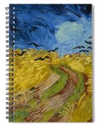 Wheat Field With Crows At Wheat Fields Van Gogh Series, By Vincent Van Gogh Spiral Notebook