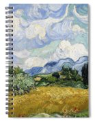 Wheat Field With Cypresses Spiral Notebook