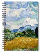 Wheatfield With Cypresses Spiral Notebook
