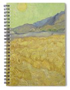 Wheat Field With Reaper At Wheat Fields Van Gogh Series, By Vincent Van Gogh Spiral Notebook