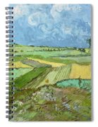 Wheat Fields After The Rain, The Plain Of Auvers Spiral Notebook
