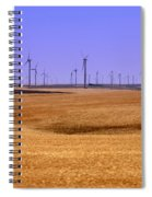 Wheat Fields And Wind Turbines Spiral Notebook