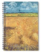 Wheatfield With Sheaves Spiral Notebook