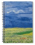 Wheatfields Under Thunderclouds Spiral Notebook