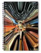 Wheel Abstract Spiral Notebook