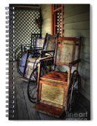 Wheelchairs Of Yesteryear By Kaye Menner Spiral Notebook