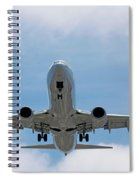 Wheels And Flaps Down Spiral Notebook