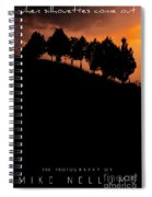 When Silhouettes Come Out Coffee Table Book Cover Spiral Notebook