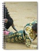 When The Bull Gores The Matador II Spiral Notebook