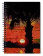 When The Day Ends Time Is Exhausted Spiral Notebook