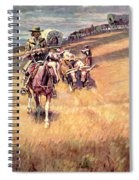 When Wagon Trails Were Dim Spiral Notebook