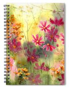 Where The Pink Flowers Grow Spiral Notebook