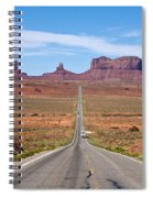 Where The Road Leads Spiral Notebook