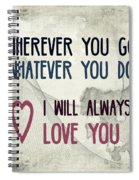 Wherever You Go Spiral Notebook