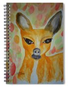 Whimsical Autumn Doe Spiral Notebook