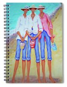Whimsical Beach Women - The Treasure Hunters Spiral Notebook