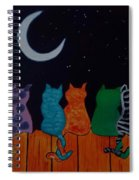 Whimsical Cats Spiral Notebook