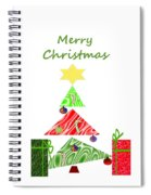 Whimsical Christmas Tree Spiral Notebook